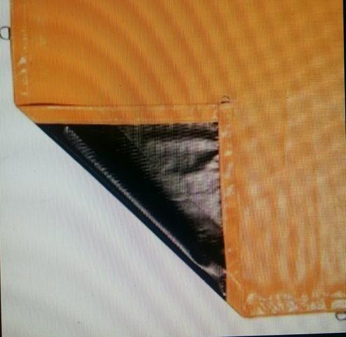 Vinilona Inconylon impermeável 15 X 5mts preta e amarela
