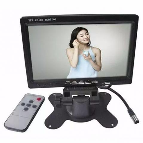 Tela Lcd 7 Polegadas Portátil Monitor Veicular Digital E73