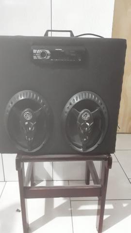 Caixa de som toca na luz 400 reais - Foto 3