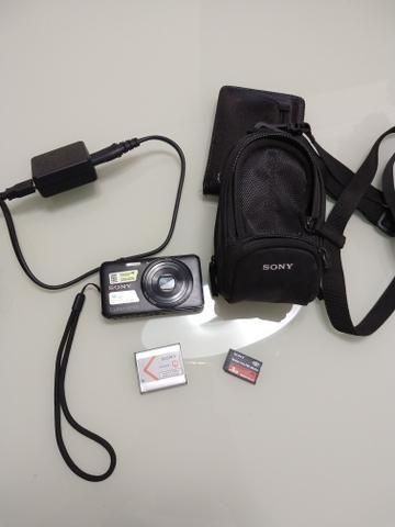 Câmera fotográfica Sony+case+cartão de memória de 8gb