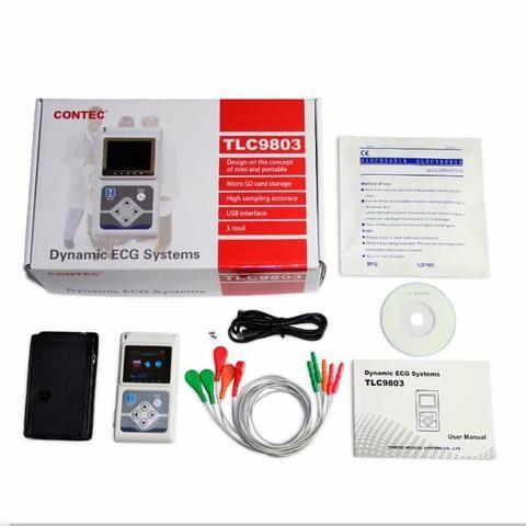 Holter 24h Contec Monitor Cardíaco Ecg 3 Canais + Software