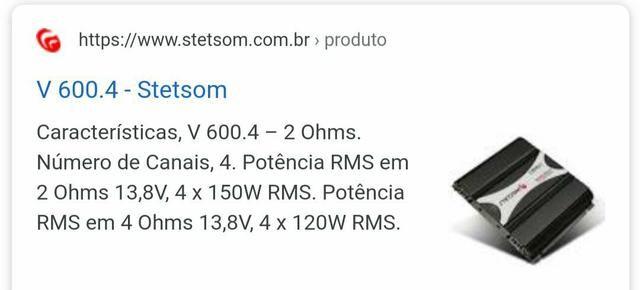 Vendo Módulo Stetsom Dub 600.4 - Foto 3