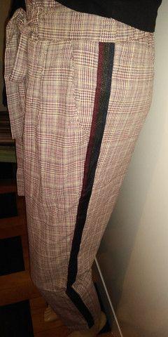 Looks calca em xadres tamanho GG cos alto co elastico na cintira - Foto 3