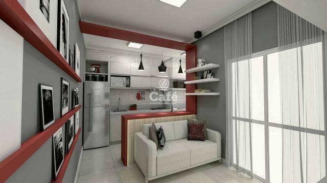 Apartamento de 1 dormitório com garagem no Centro de Santa Maria - Foto 4