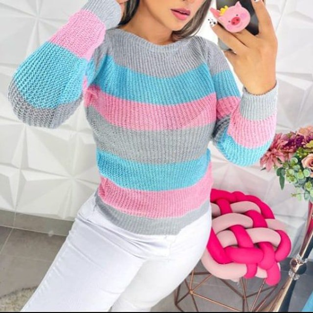 Linda camisa tricô - Foto 4