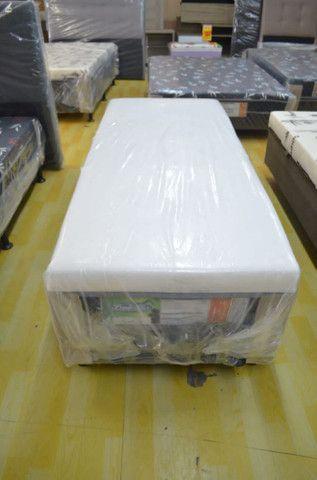 Cama box solteiro com 10 cm espuma - Novo - Foto 5
