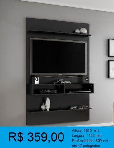 painel de tv madeira rustica -compre pelo whatssap e pague na entrega! - Foto 5