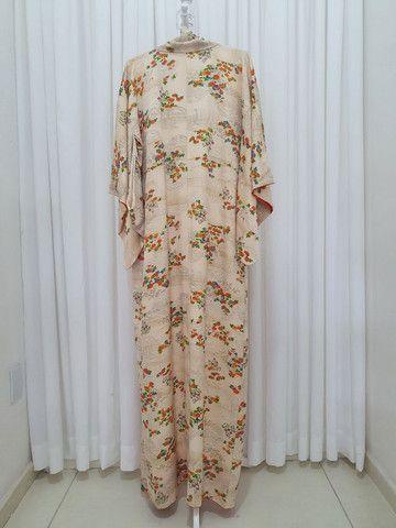 Kimono vintage japones de seda importado do Japão  - Foto 4