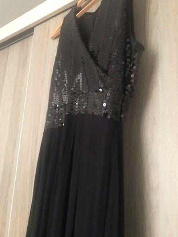 Lindo vestido para festa longo preto - Foto 2