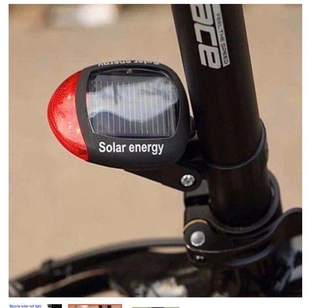 Lanterna Sinalizador Traseira Solar Bike Bicicleta Led Pisca - Foto 2
