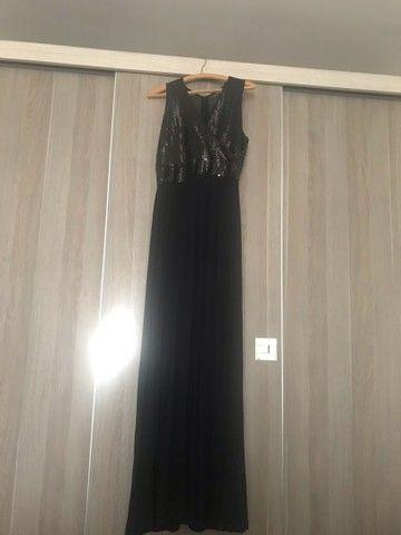Lindo vestido para festa longo preto