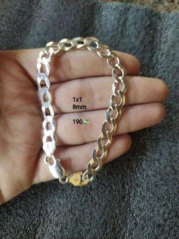 Correntes e pulseira de pratas  - Foto 6