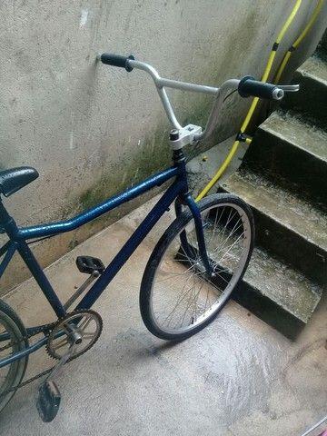 Bike princy rodagem cromada pneu faixa branca pipa Mônaco Guidon master  - Foto 3