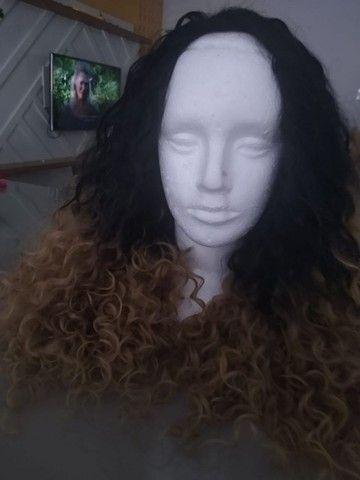 Peruca half wig cabelo orgânico