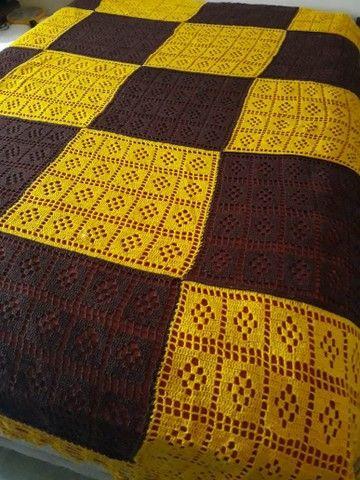 Linda colcha artesanal feita em croche. - Foto 2