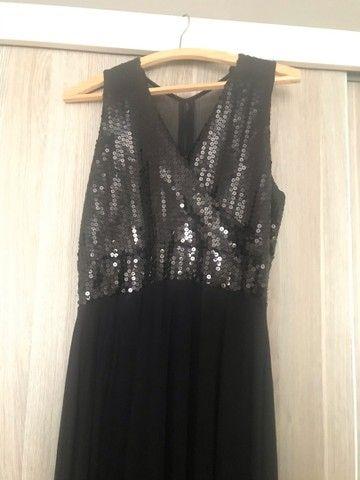 Lindo vestido para festa longo preto - Foto 4
