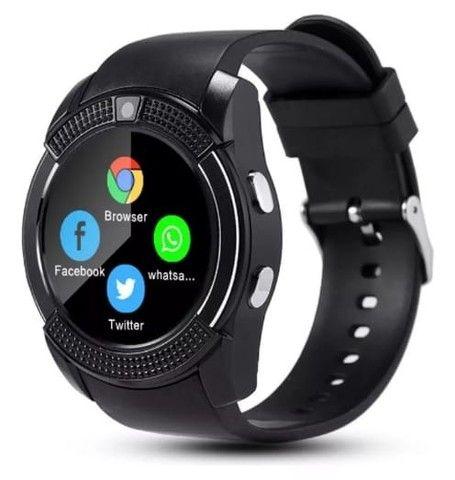 Relógio Style e Tecnologia Smart V8 Preto Funções Celular Smartphone - Foto 2