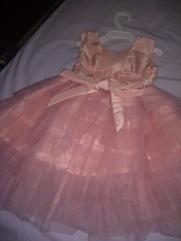 Vestido de festa rosa chá