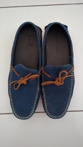 Sapato Homem do Sapato cor azul-Faço a entrega - Foto 2