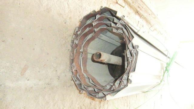 Porta de enrolar - metal - 2,35 m de largura