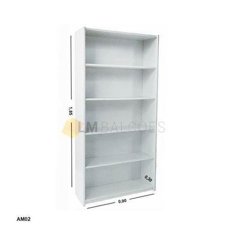 Armario MDF prateleira ideal para sua loja ou casa 0,90 x 1,85 x 0,30 - Foto 2