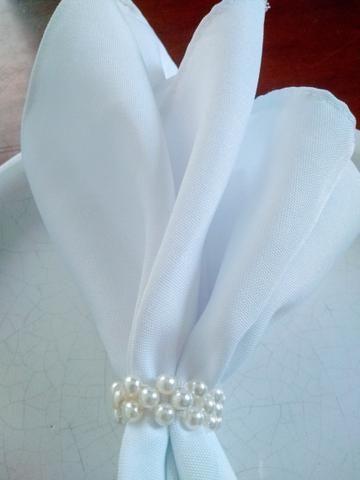 20 guardanapos de tecido 42x42cm, vai com porta guardanapos de brinde - Foto 4