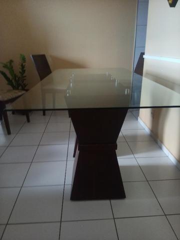 Mesa em madeira. Beleza e sofisticação. Urgente.R$ 600 tel. - Foto 6