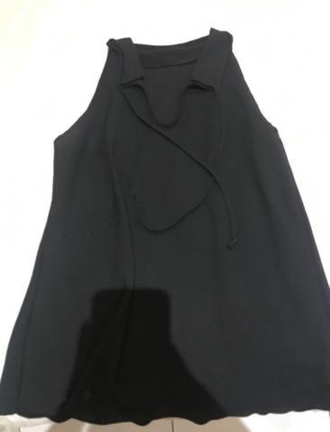 Vestidinho branco e blusa preta!!!! - Foto 2