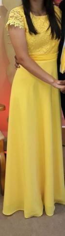 Vestido social, longo, cor amarelo - Foto 2