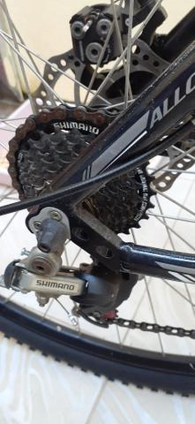 Bicicleta aro 29 top estado de Nova não andou 50km - Foto 3