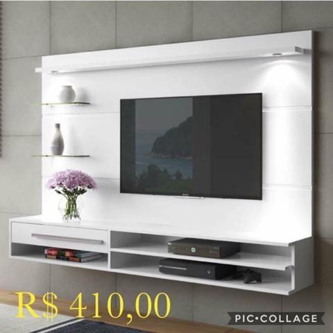 Painel veneza com tv até 55p (leds e suporte grátis) - Foto 3
