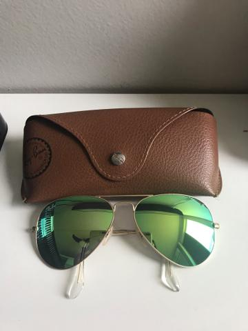 Rayban Original lente Verde espelhada - Bijouterias, relógios e ... 760192950c