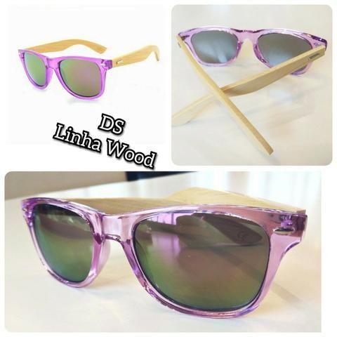 b4e3bc8e7 Óculos de sol Unissex armação em policarbonato haste em bambu ...