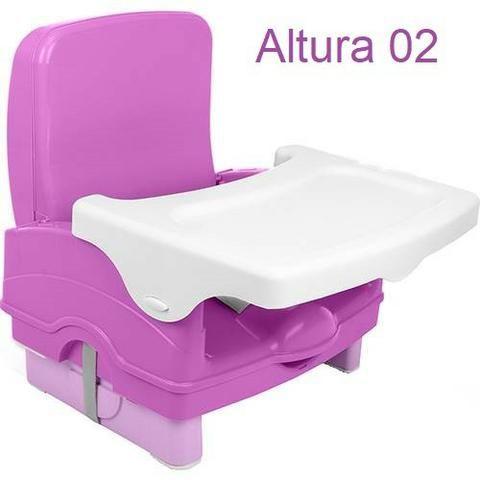 Cadeira De Alimentação Portátil Cosco, Nova e Lacrada, Cinza ou Rosa, cadeirinha refeição - Foto 4