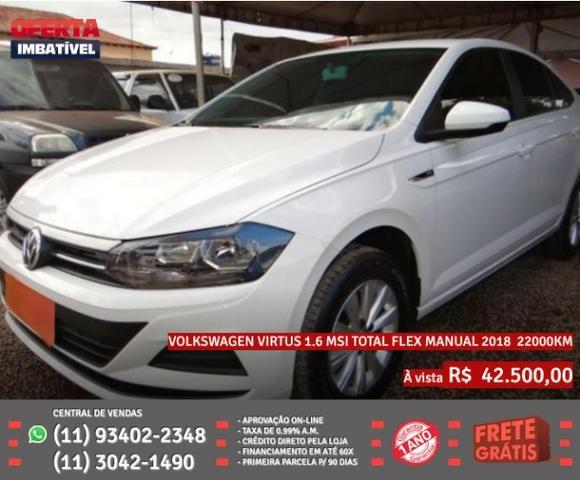 Branco Volkswagen Virtus 1.6 Msi Total Flex Manual 2018 R$ 42.555 22022Km