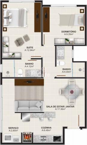 Òtimo empreendimento com 2 Dormitórios, 1 suíte, garagem, sendo localizado em um bairro no - Foto 10