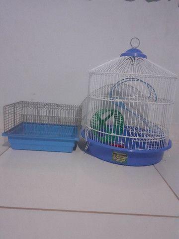 Kit gaiolas para hamsters: gaiola trasportadora e gaiola redonda 3 andares