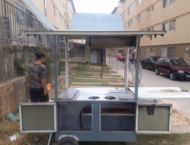 Carrinho industrial, chapa 2 queimadores e fogão de 2 bocas - Foto 2