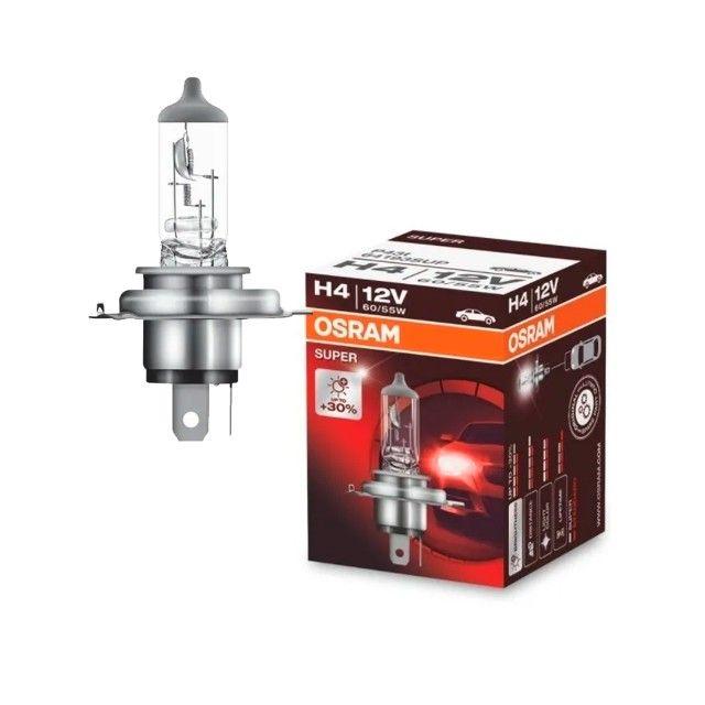 Lâmpada Osram H4 12V 60/55W Super 30% mais iluminação
