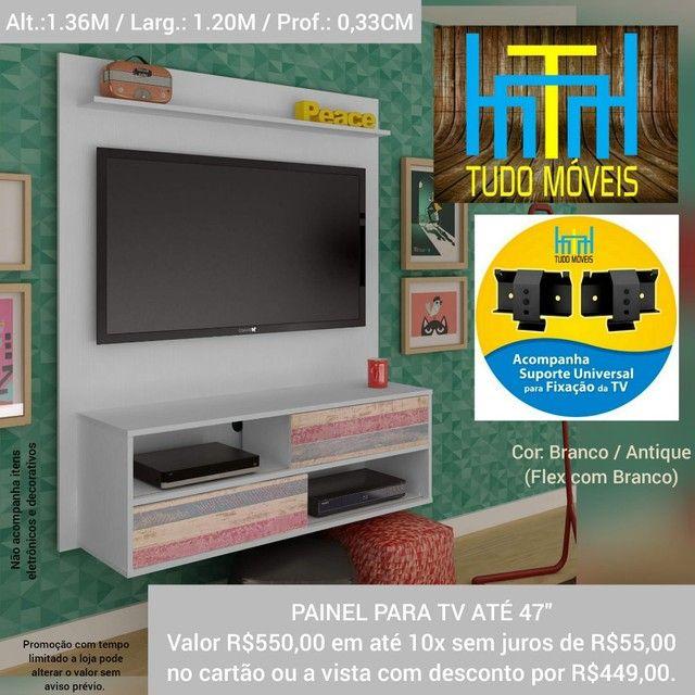 """PAINEL COM 2 PORTAS E NICHO P/ TV ATÉ 47""""   - Foto 2"""
