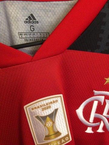 Camiseta Flamengo 20/21 - Patch Campeão Brasileiro  - Foto 4