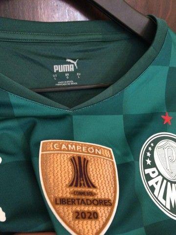 Camiseta Palmeiras 20/21 - Patch Campeão Libertadores  - Foto 3