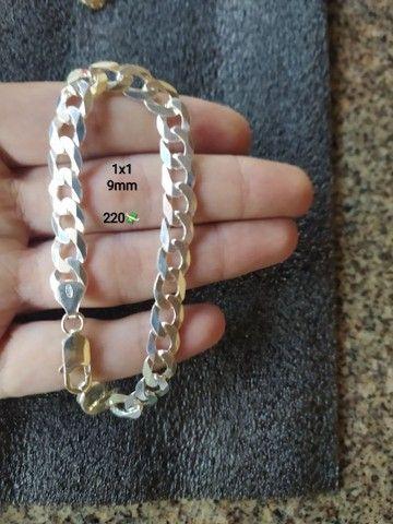 Correntes e pulseira de pratas  - Foto 5