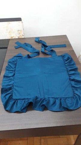Assento Cadeira Artesanal 39x36 Azul Petróleo