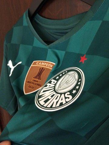 Camiseta Palmeiras 20/21 - Patch Campeão Libertadores  - Foto 2