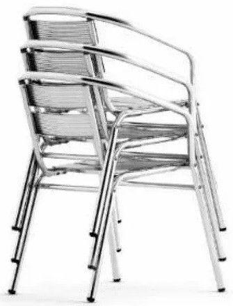 Cadeira Poltrona em Aluminio para Área Externa  - Foto 3