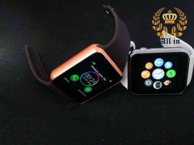 Smartwatch A1: Relógio inteligente+ FRETE GRÁTIS - Foto 3