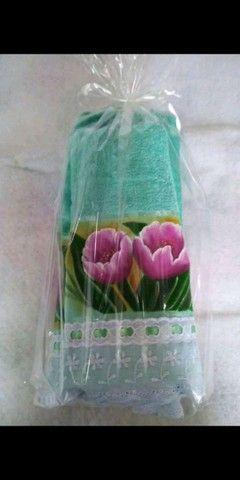 Kit toalha de banho e toalha de rosto  - Foto 6
