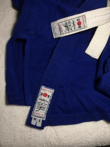 Kimono juvenil 100% algodão + faixa branca - Foto 2