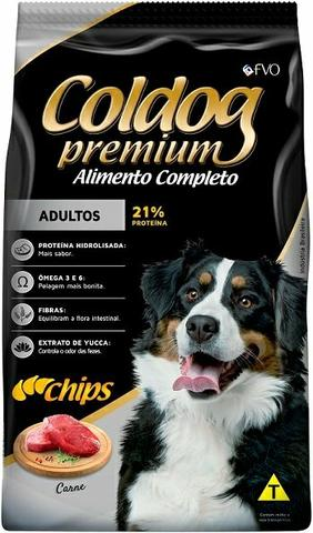 Ração Coldog Premium. *Chips* Adulto 25kg * Avista - Foto 3